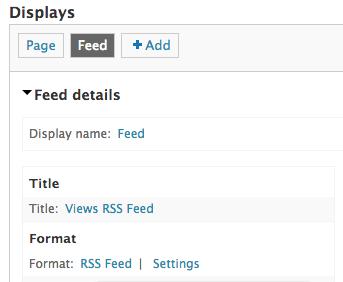 drupal views rss feed