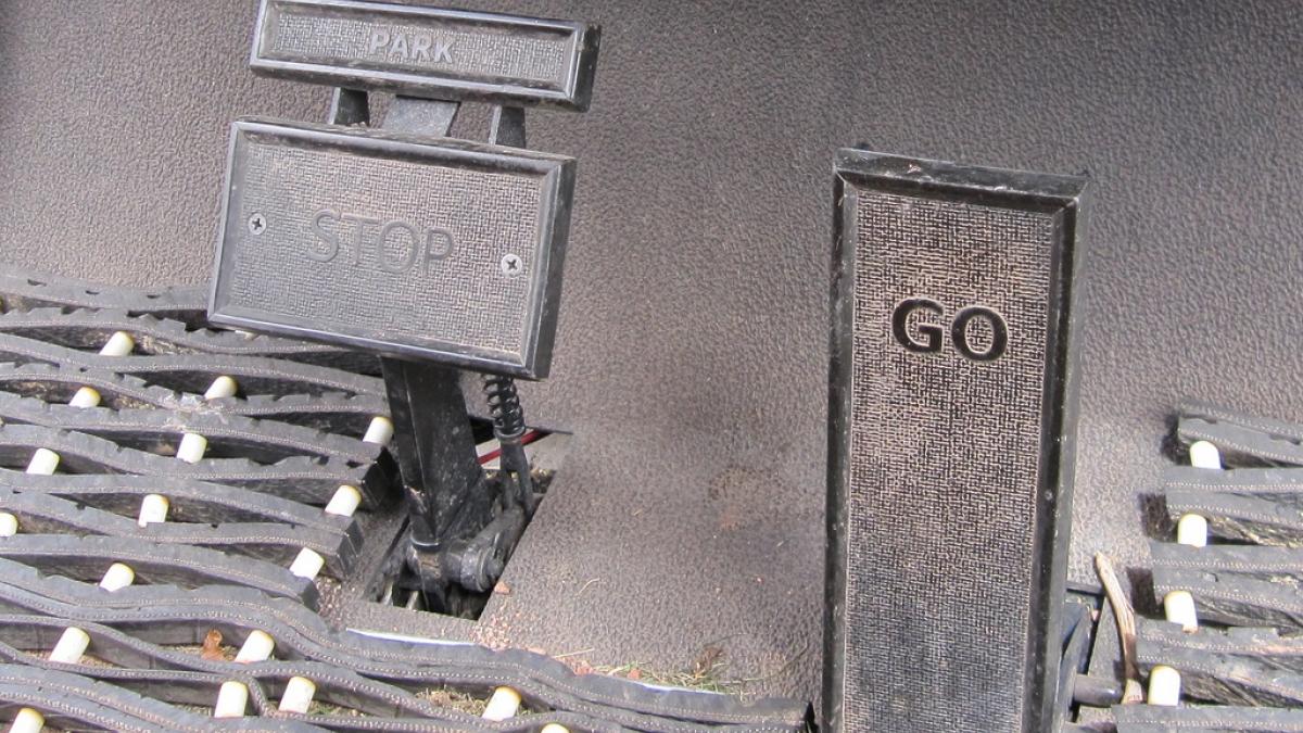 park, stop, go pedals