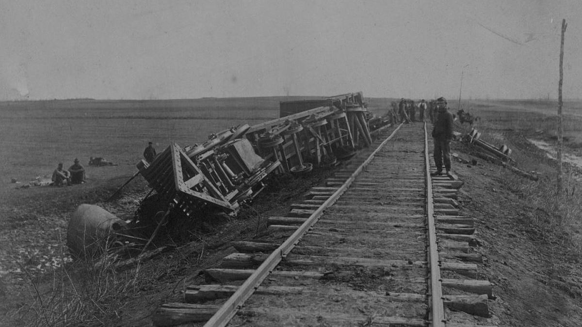 Train off the track