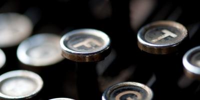 closeup of typewriter keys