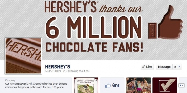 Hershey's on Facebook