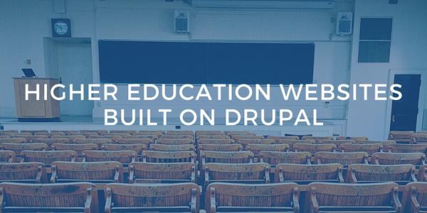 higher ed in drupal