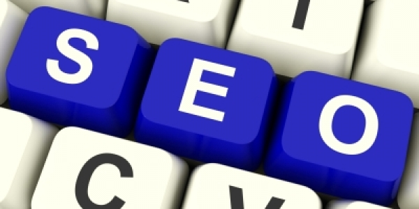 Keys on a keyboard that spell SEO