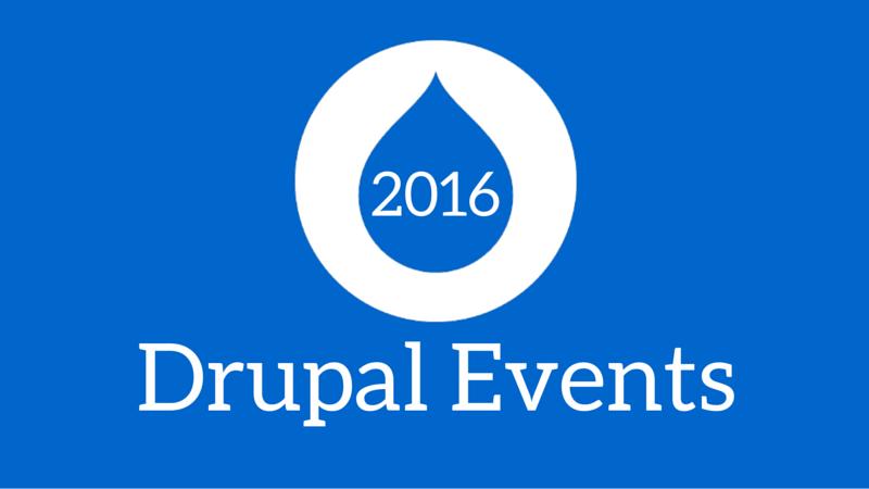 drupal events 2016