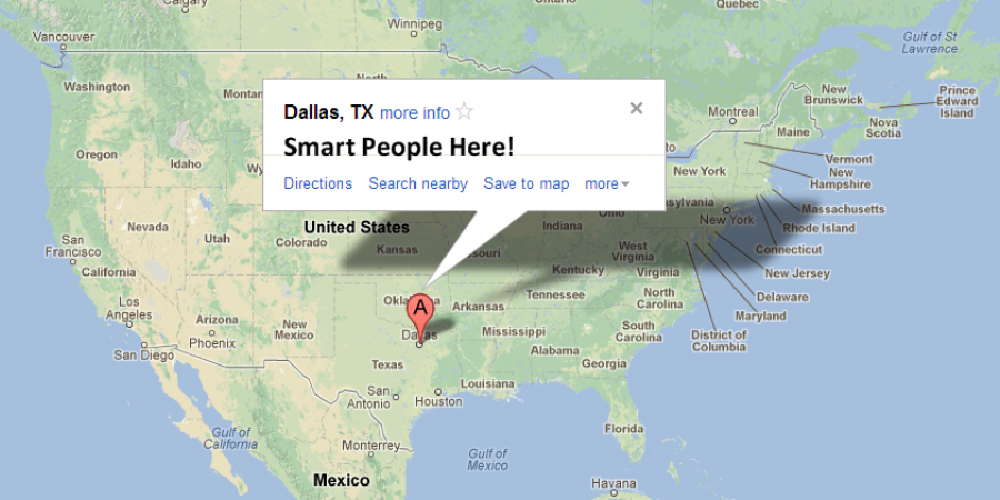 Dallas map. Smart People Here!