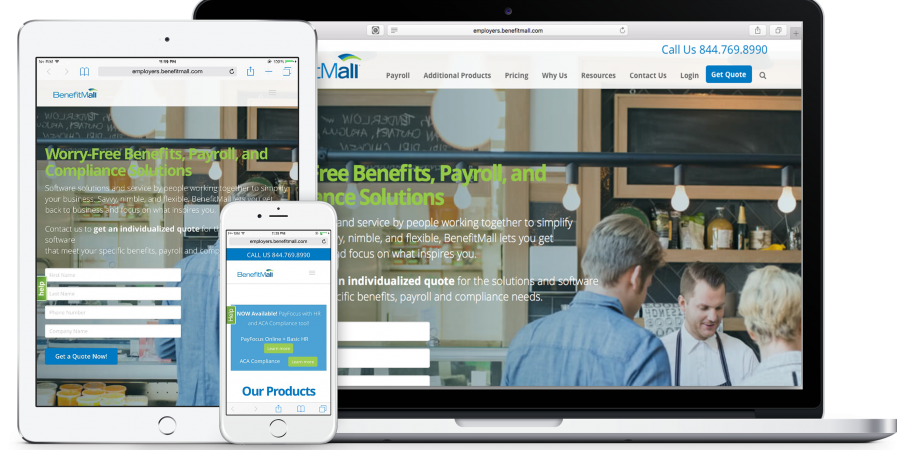 Employees BenefitMall Responsive Design
