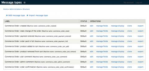 drupal commerce message types