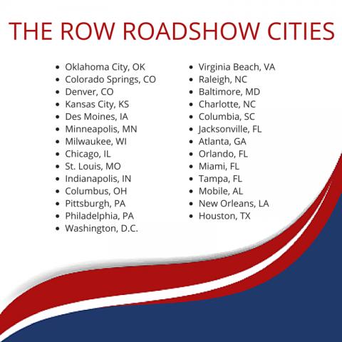 row roadshow cities