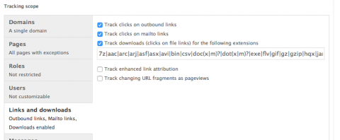 drupal google analytics track downloads