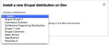 Acquia distributions available