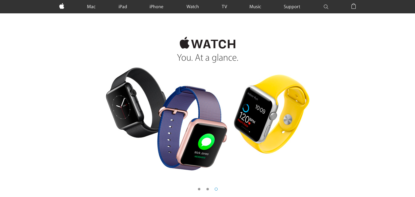 apple website example