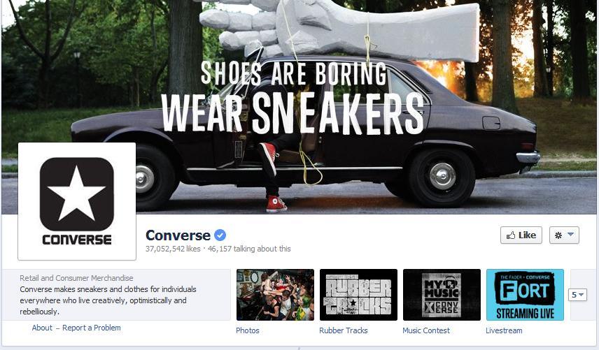 Converse Facebook Page