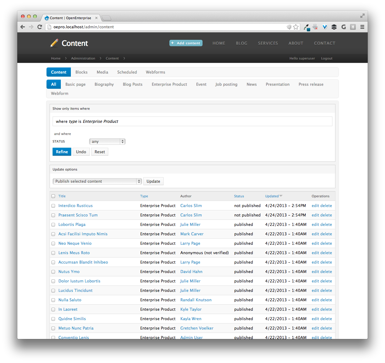 The Current State of Drupal Admin Themes   LevelTen Dallas, TX