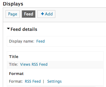 drupal views rss feed