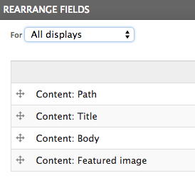 drupal views rss rearrange fields