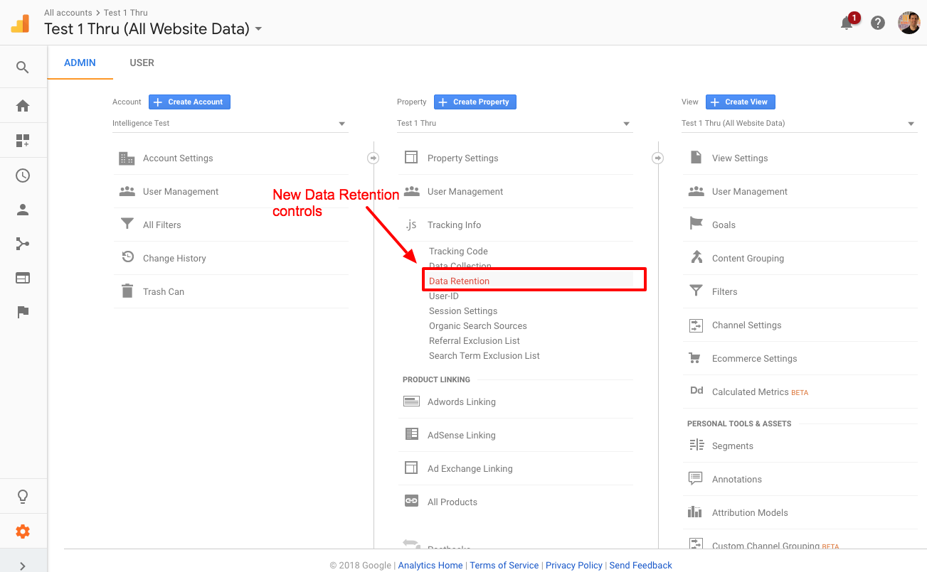 Change data retention controls in Google Analytics