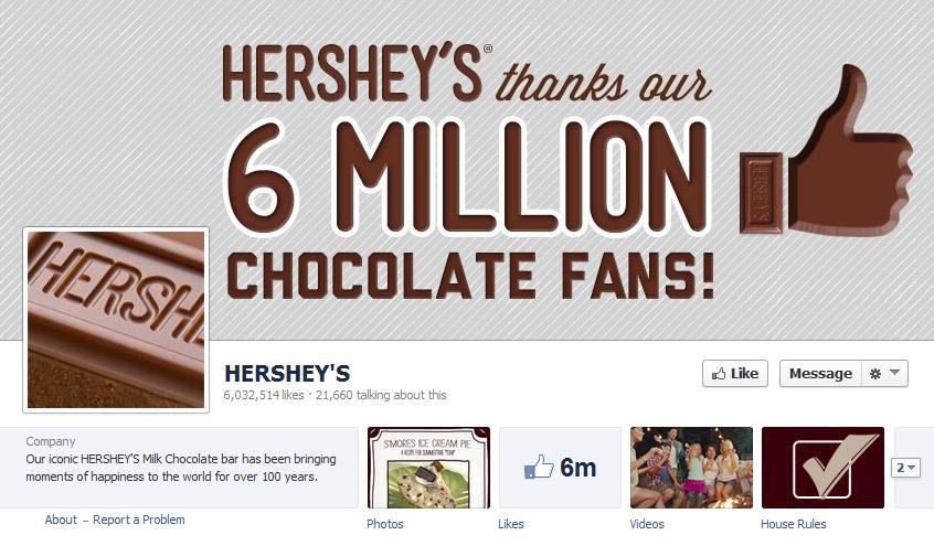 Hershey's Facebook Example