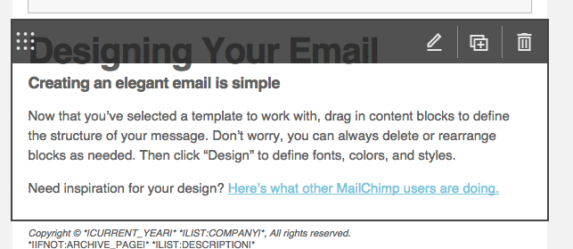 mailchimp rss email edit default