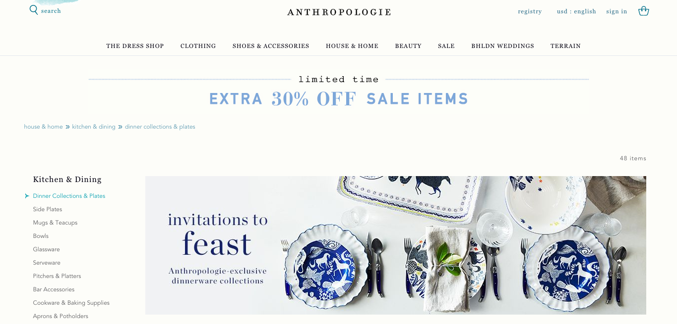 anthropologie navigation