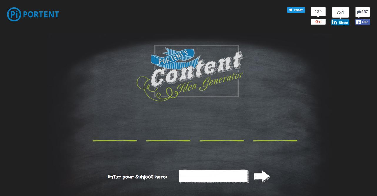 potent content idea generator