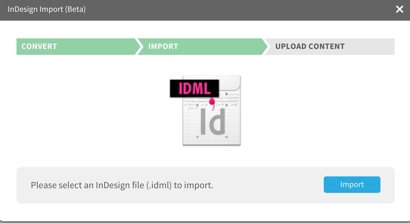 Indesign Import