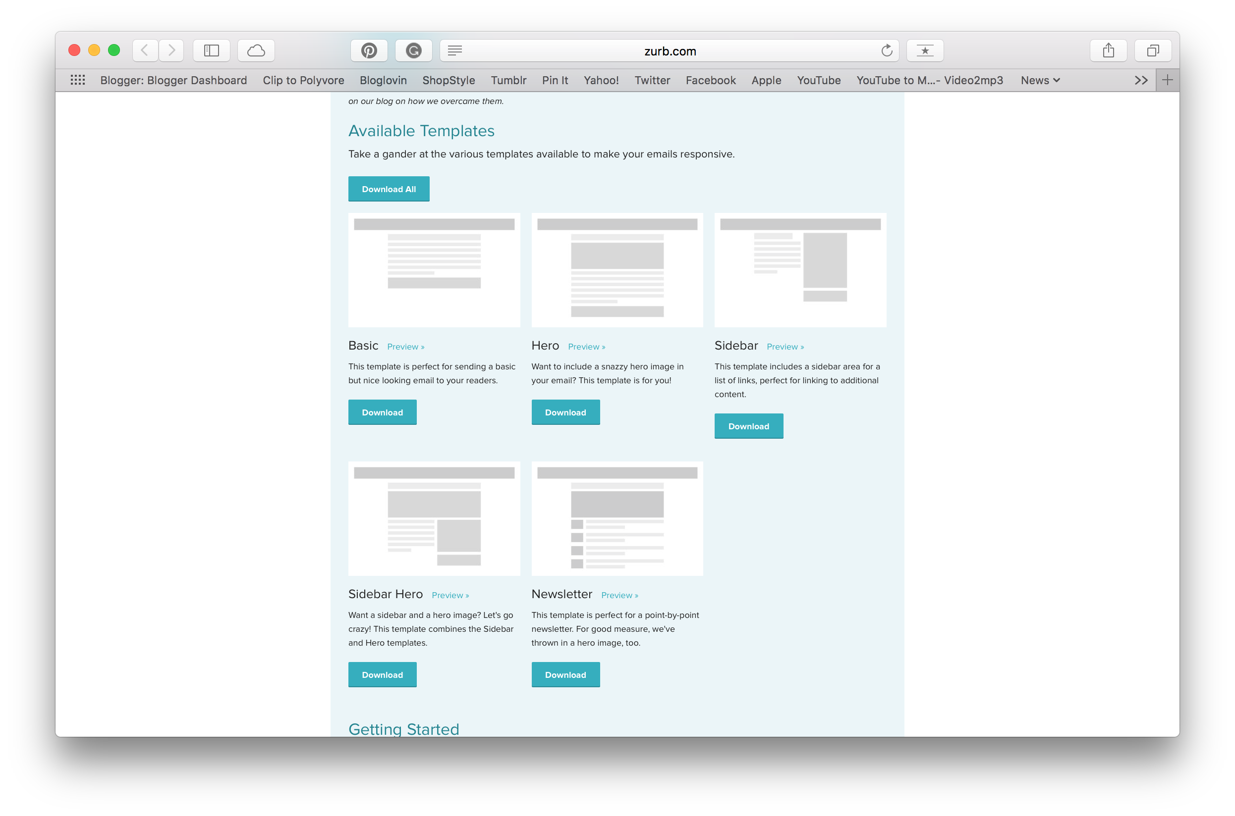 Zurb Templates  Business Newsletter Templates Free Download