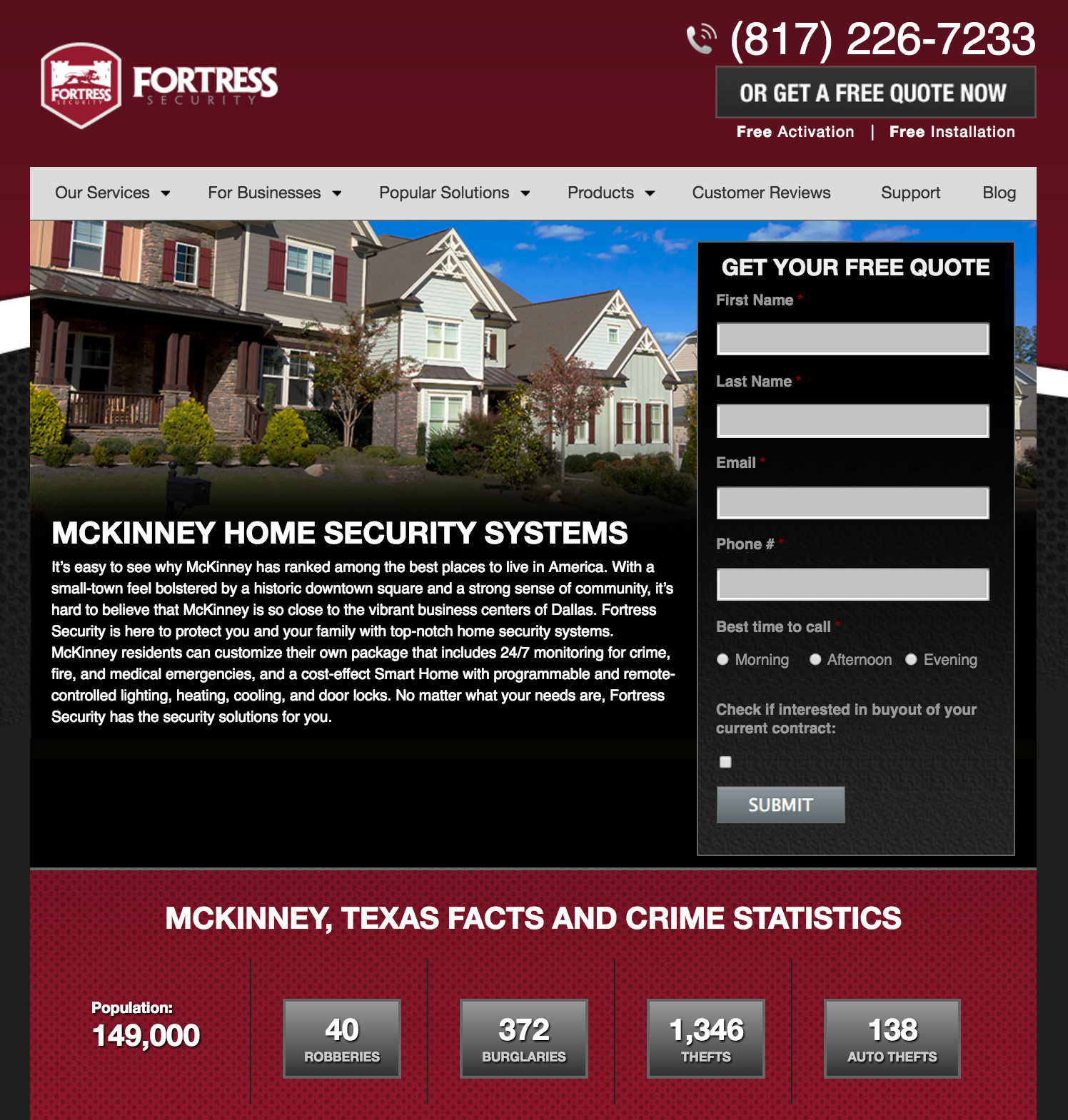 fortress security location page