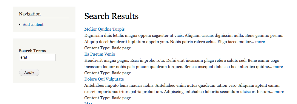 Drupal Tutorial: How to Sort Search Results by Content Type
