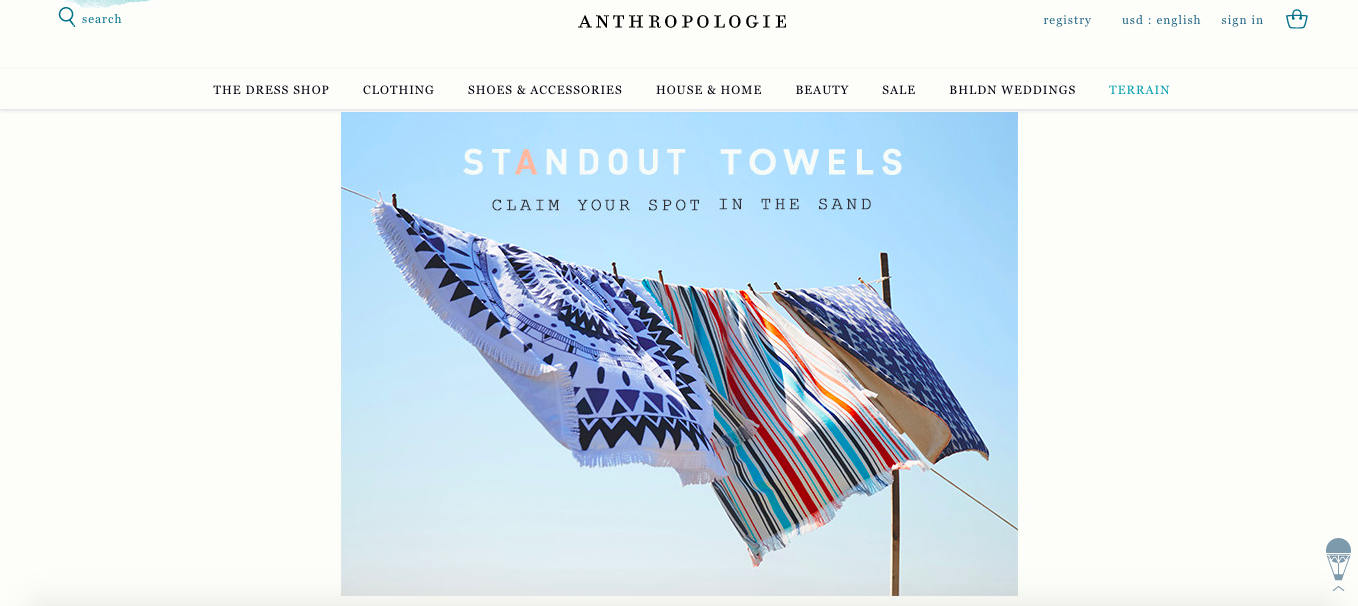 anthropologie text font