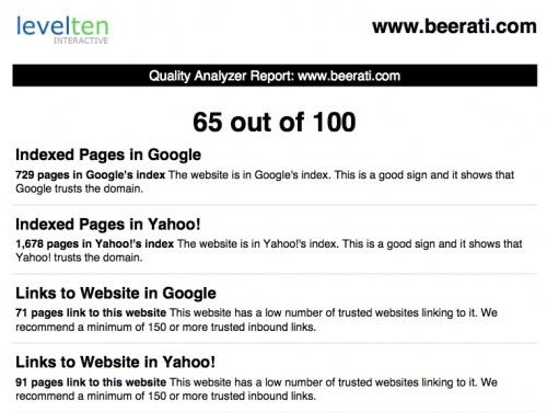 website seo analyzer