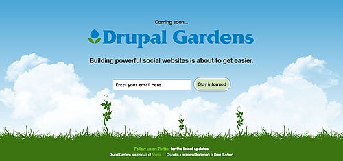 Drupal Gardens demo