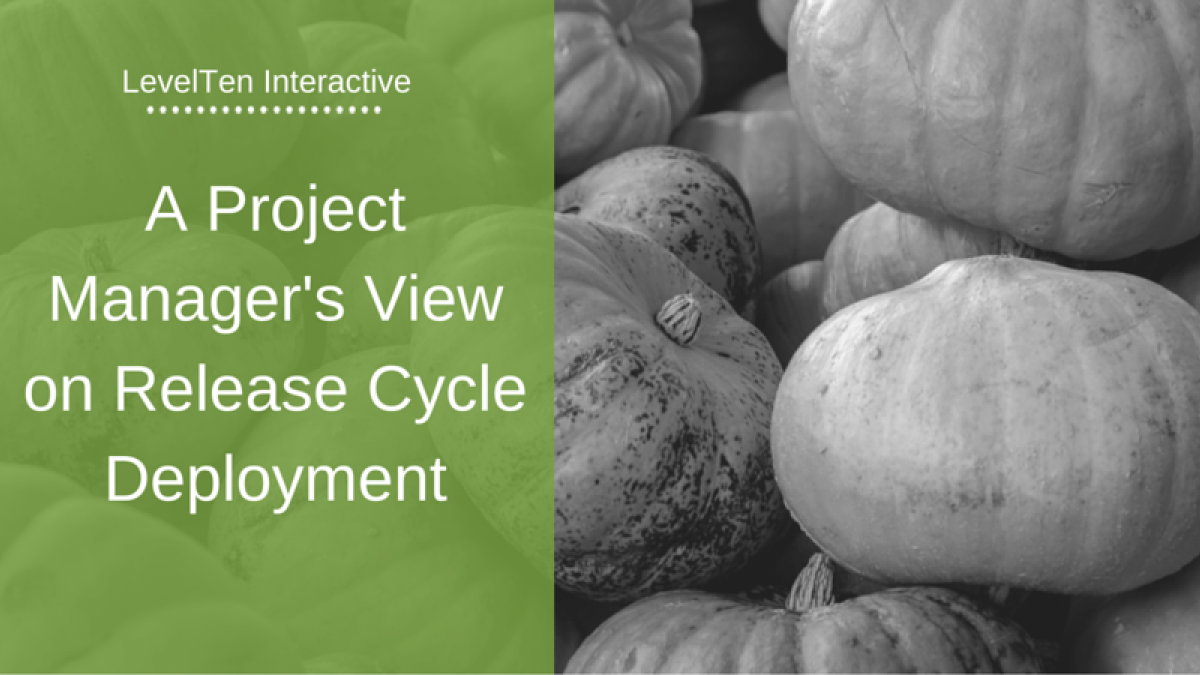 A Project Manager's View on Release Cycle Deployment pumpkins halloween