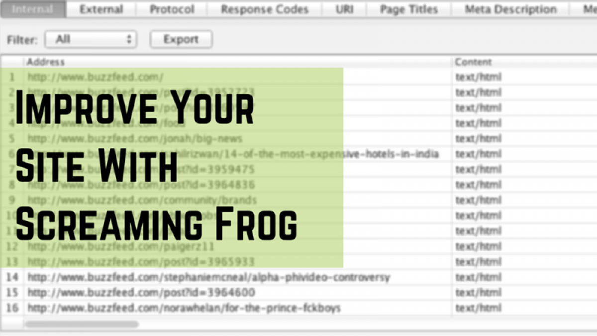 Improve Your Site With Screaming Frog