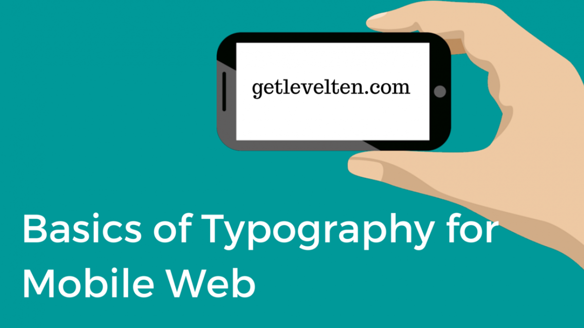 basics of typography for mobile web