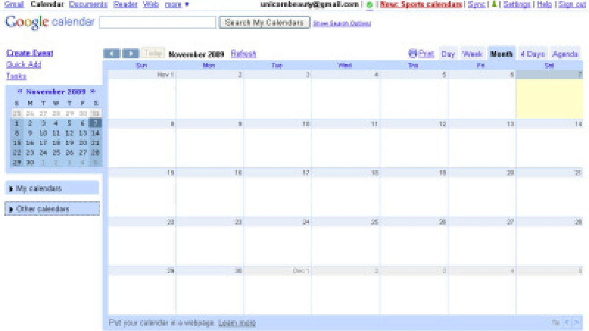 Google Monthly Calendar : How to create an editorial ging calendar using google