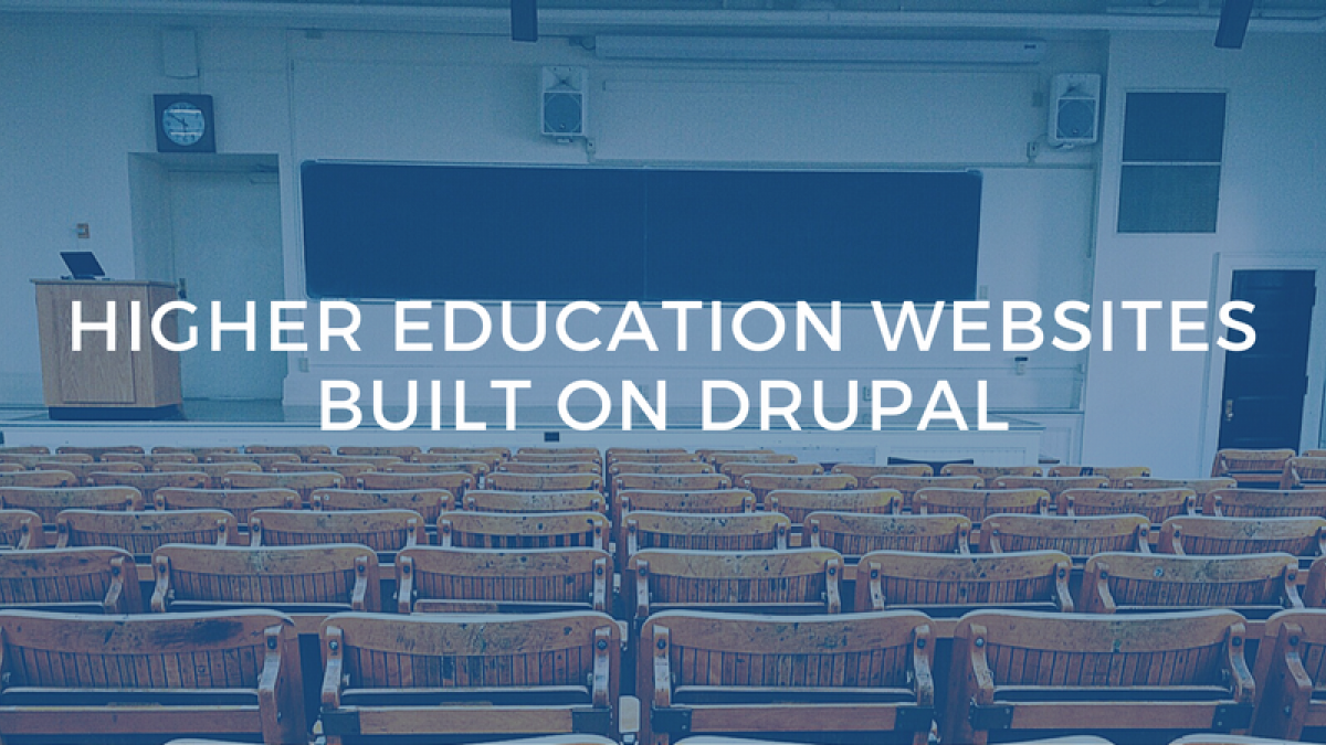 higher ed in drupal