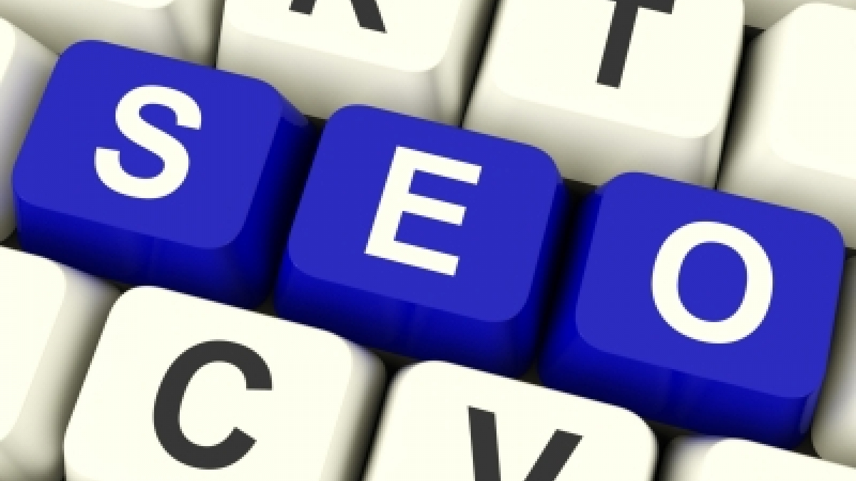 Keys on a keyboard that spell SEO