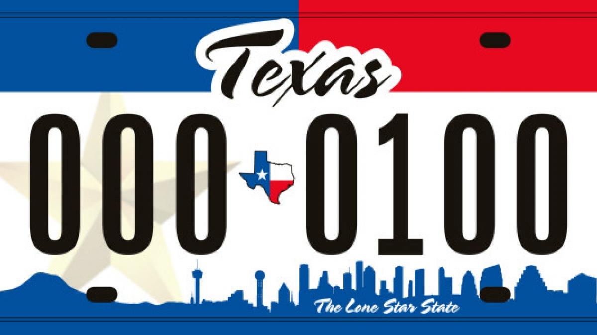 texas new skyline license plate