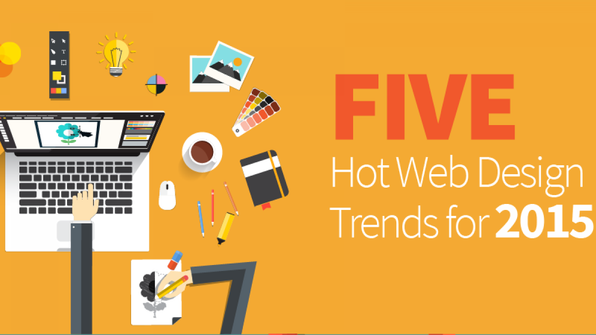 five hot web design trends for 2015
