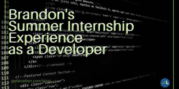 Brandon's summer internship experience as a developer
