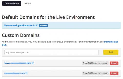 pantheon custom domains