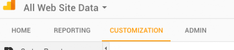 Google Analytics dashboard customizations