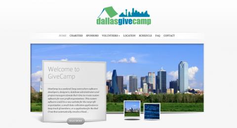 Dallas Give Camp Website