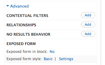 exposed filter in block