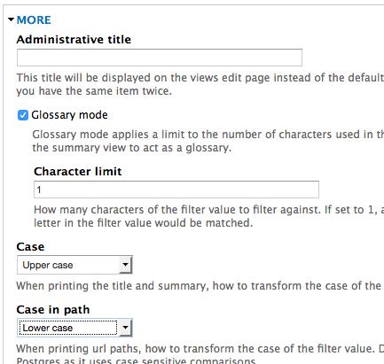 glossary mode more