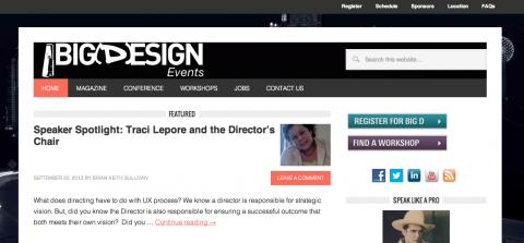 Big Design Conference Website