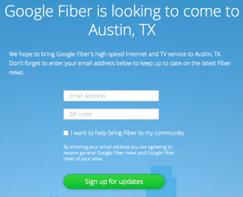 Google Fiber Sign up