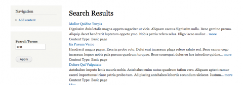 check search results page