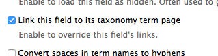 taxonomy term page