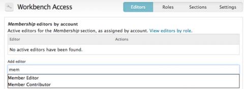 workbench access add editors
